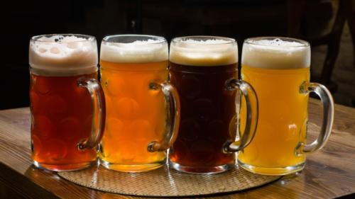 Food Drinks Four types of beer 032613
